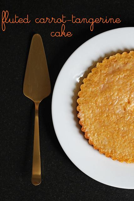 fluted carrot-tangerine cake