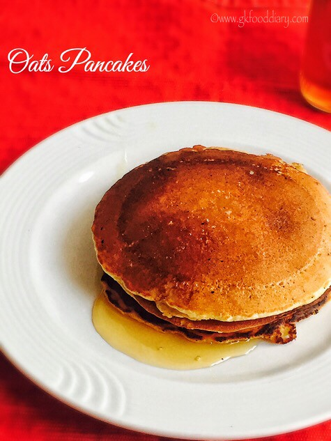 Oats Pancakes Recipe for Toddlers and Kids4