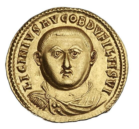 A gold Aureus of the Emperor Licinius