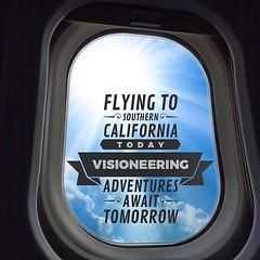 Flying to Southern California today. Visioneering adventures await tomorrow. #design #build #architecture #realestate #development #construction #designbuild #church #VEDB #VisioneeringEnvisionDesignBuild #VisioneeringStudios #Visioneering