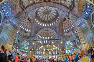 תמונה של The Blue Mosque ליד Eminönü. turkey istanbul turquia 2014 canon7d sigma10fisheye