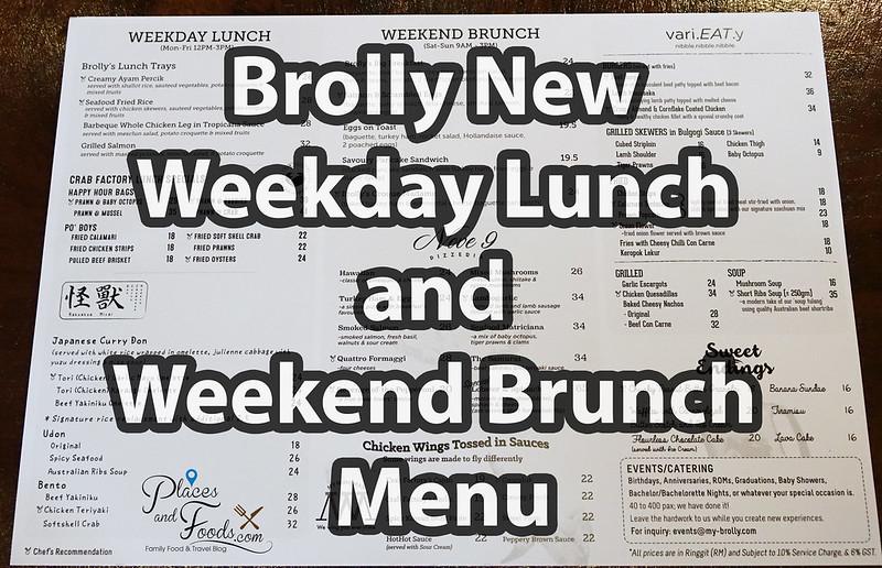 brolly new menu
