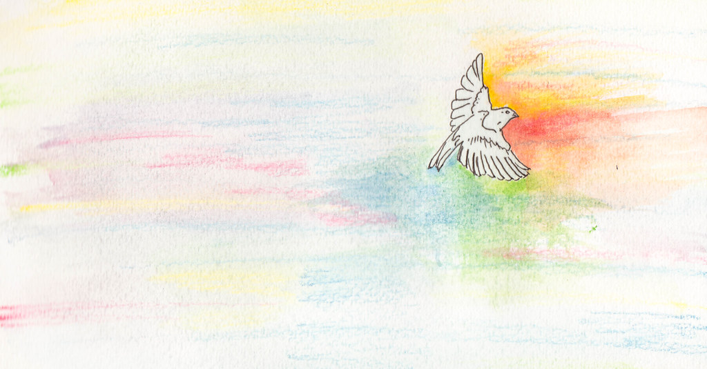 a watercolor of a bird