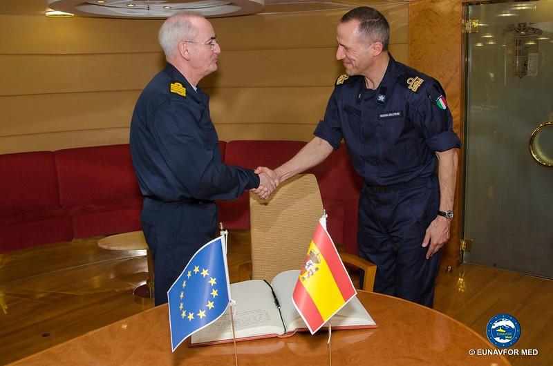 SP JOHQ visit to Op Sophia Task Force – EUNAVFOR MED