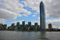 London, Modern Buildings By The River Thames