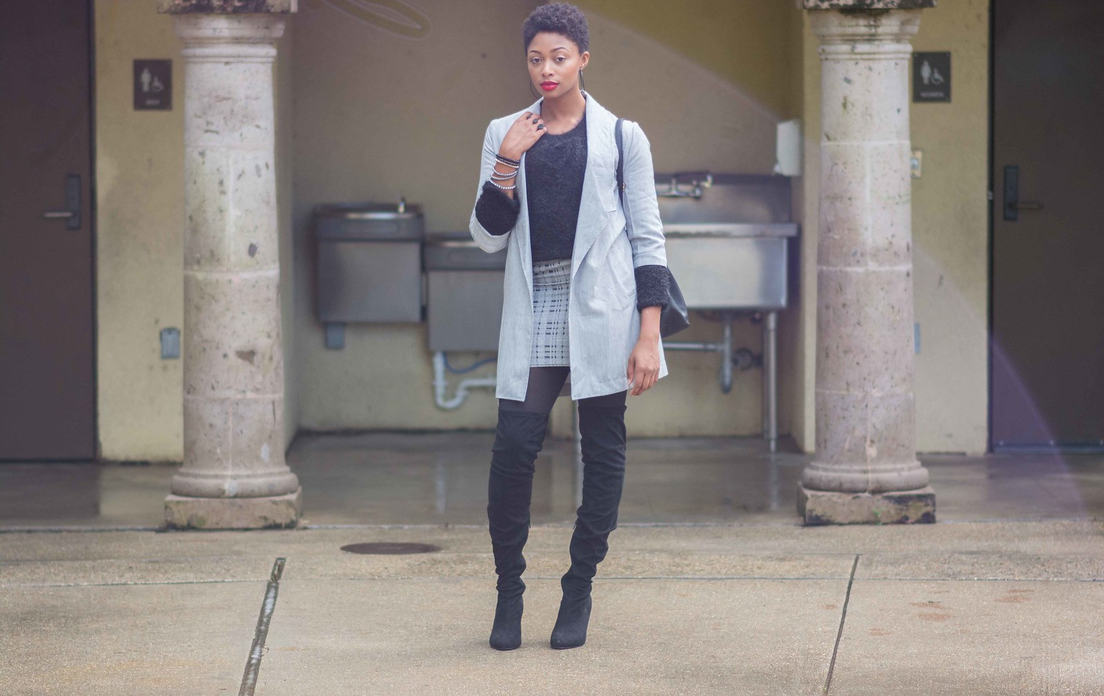 how to wear a mini skirt in the winter