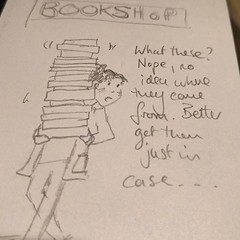 No self control in bookstores. Inspired by chat with @mattwgibbs about a wonderful comic by @SarahCAndersen