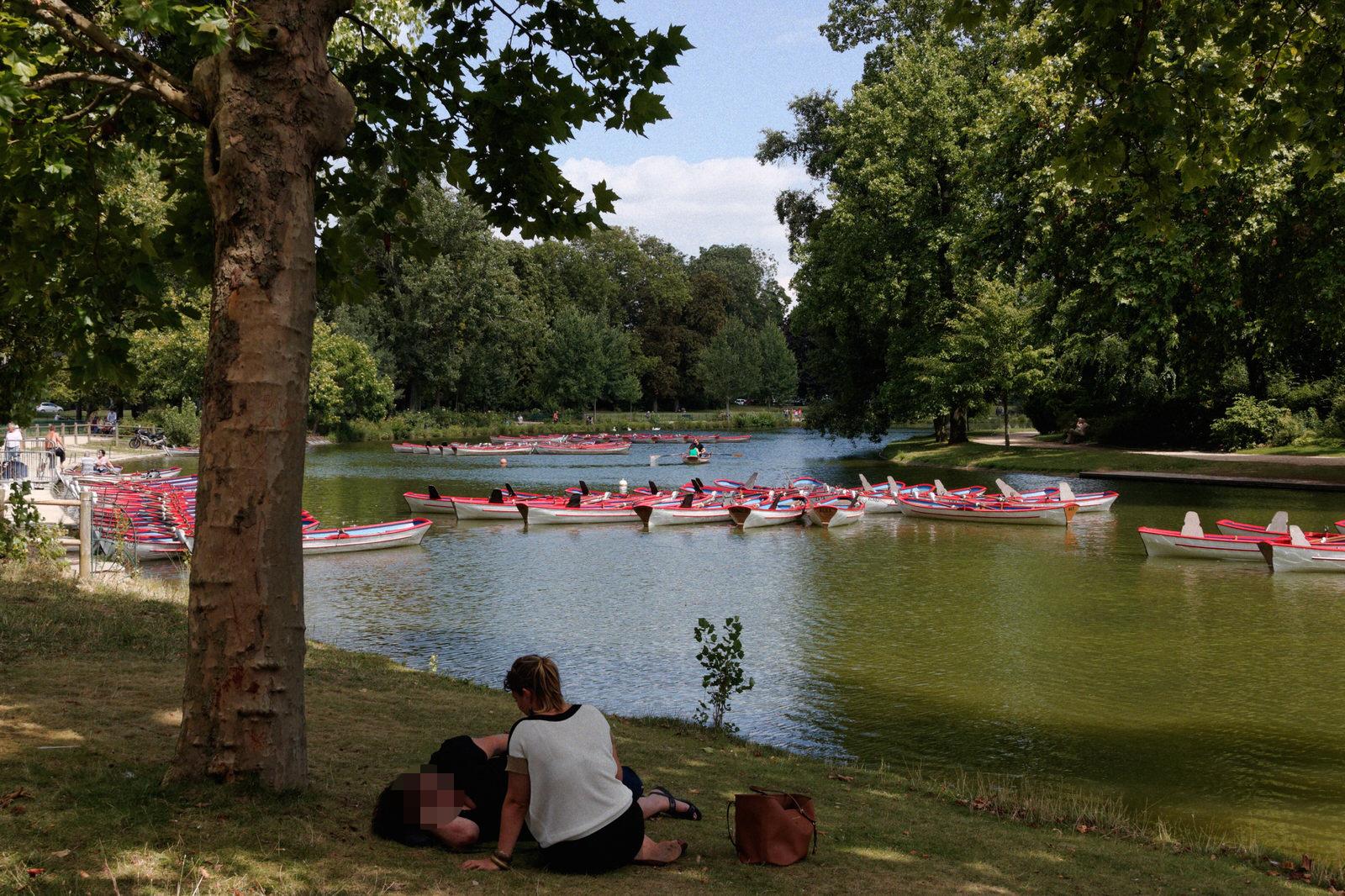 Rowboats in Bois de Vincennes, Paris