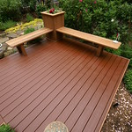 DuraLife Siesta decking in Mahogany