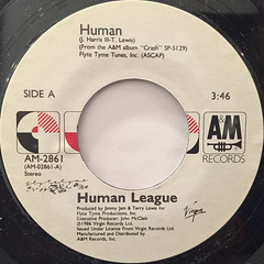 HUMAN LEAGUE:HUMAN(LABEL SIDE-A)