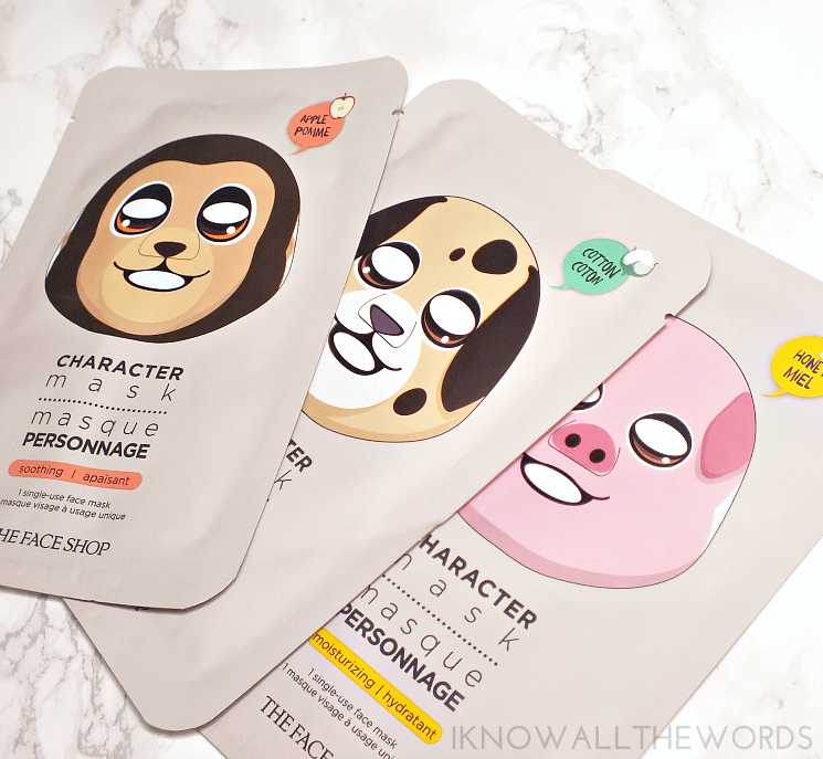 THEFACESHOP character mask set (1)