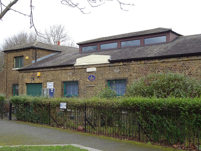 Blue plaque № 9650 - Originally St Mary's National School erected in 1819 on part of the Workhouse Acre. It was designed to accommodate a master and mistress plus 200 pupils