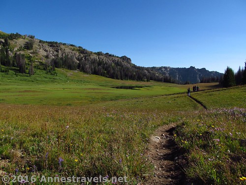 Hiking east through Bonneville Pass, Shoshone National Forest, Wyoming