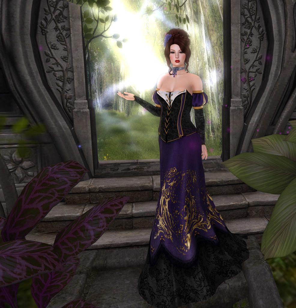 Selluvia Maloria gown, purple, The White Armory