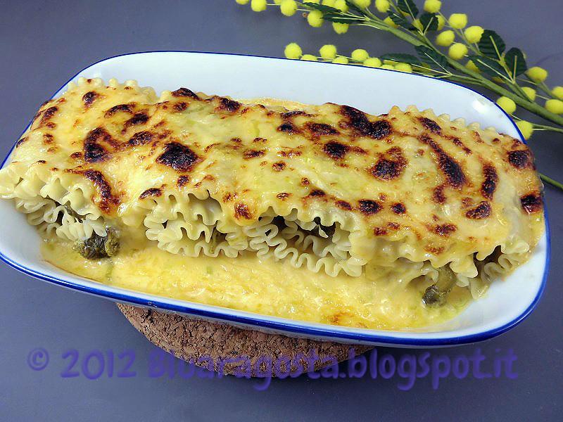 07-lasagne, cime di rapa, porri e cheddar
