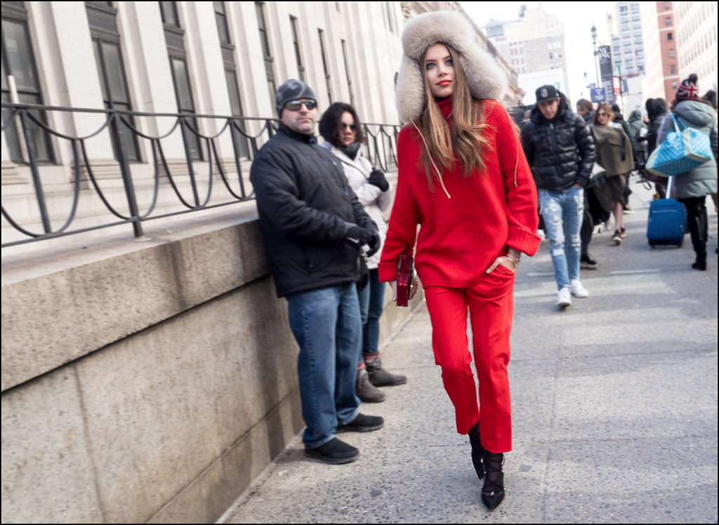 Seeing Red ... NYFW 2-2016