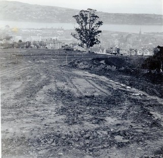 Stuart Street Extension looking down towards the Harbour, 1952