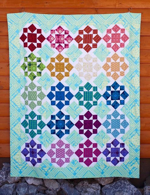 AMH On a Whim Quilt, Hand Quilted