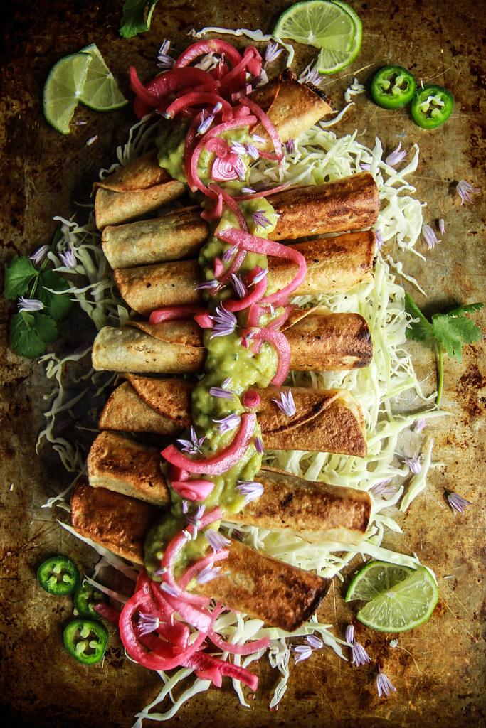 Sweet Spiced Beef Tacos Dorados from HeatherChristo.com