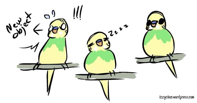 shocked sleepy budgie dennis the menace