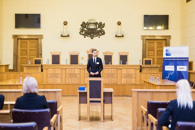 Prof. P.Minca VI tiesas procesa izspēle krimināltiesībās (Foto: K.Vasiļevskis)