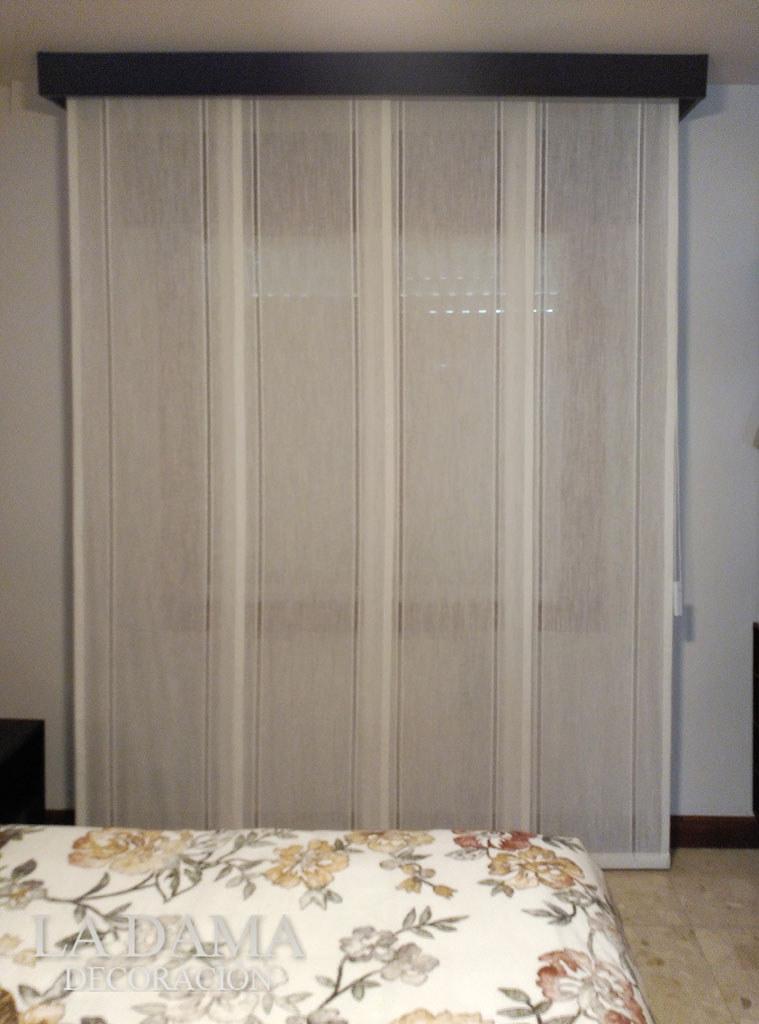 Fotograf as de paneles japoneses la dama decoraci n for Cortinas dormitorio moderno