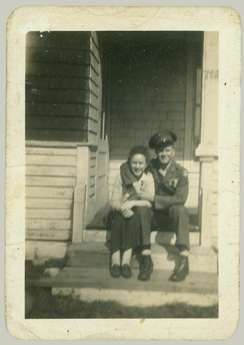 A girl and her man in uniform