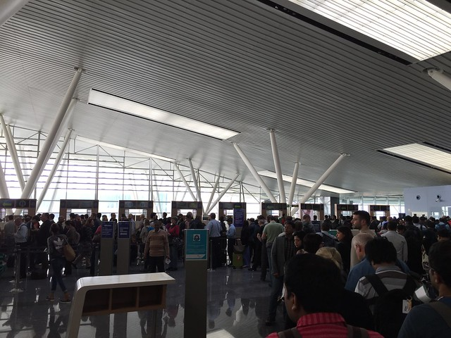 Loooong immigration line