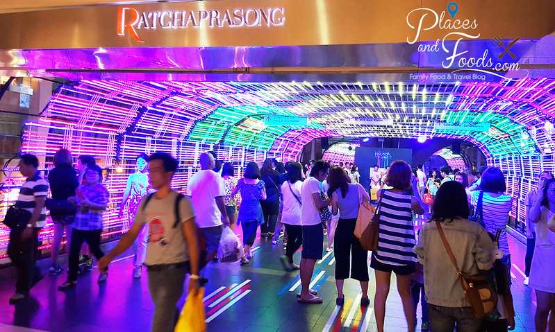 ratchaprasong light tunnel entrance kingdom of light