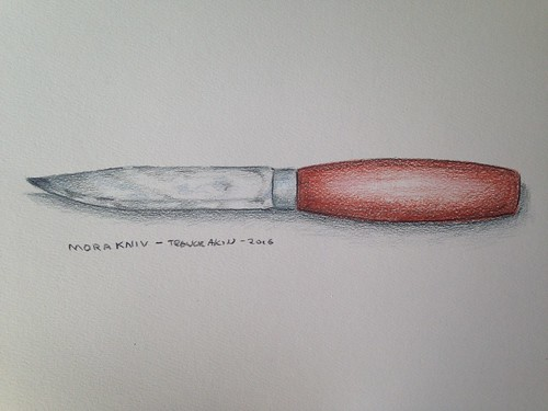MORAKNIV camp knife - color pencil