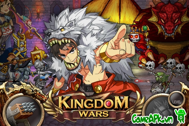 Kingdom Wars v1.1.7 hack full vàng cho Android