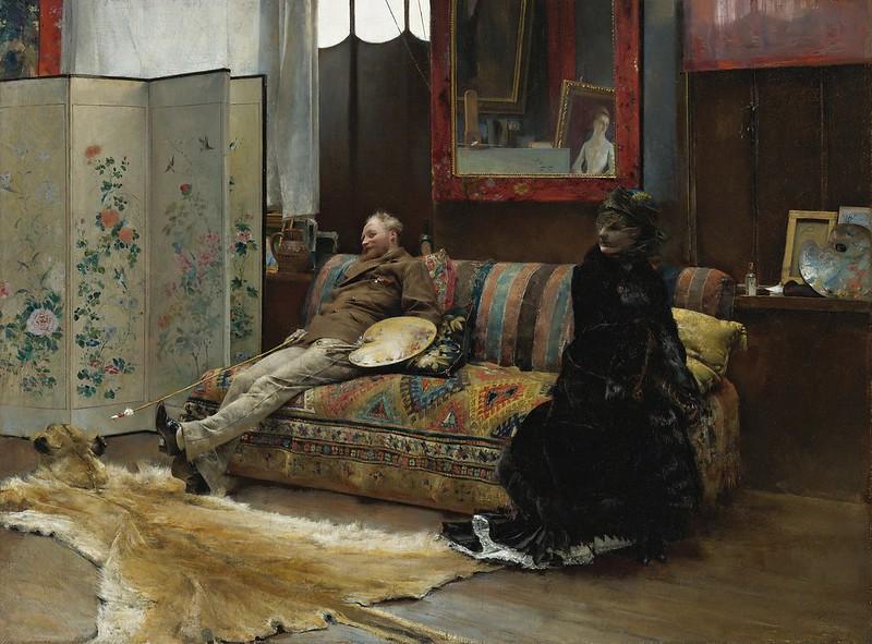 Pascal Dagnan-Bouveret - Gustave Courtois dans son atelier (1880)