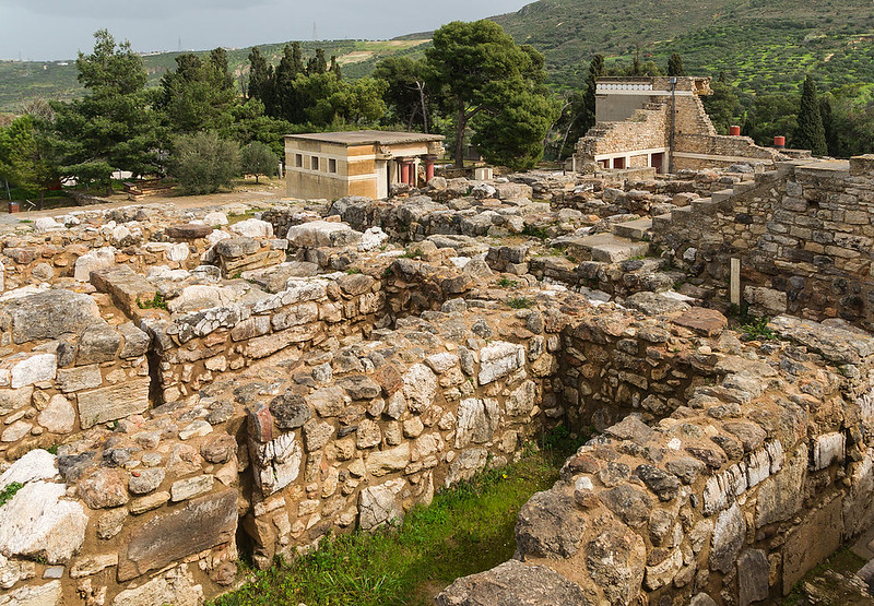 Overall view on Palace of Knossos, Crete