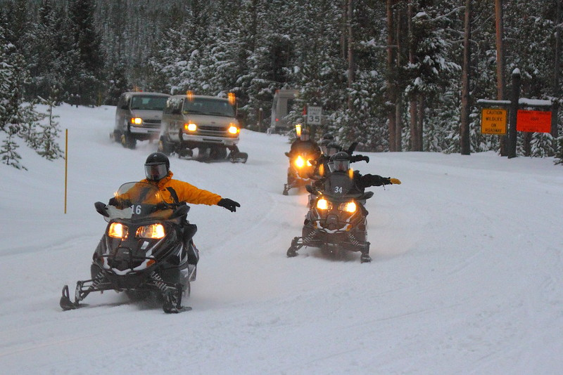 IMG_3545 Snowmobiles, Yellowstone National Park