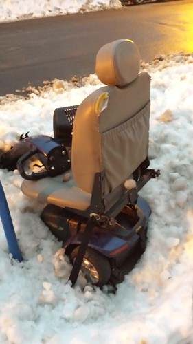 Wheelchairs in the Snow