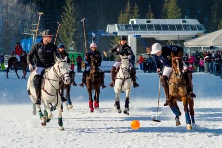 Skiareál ve Špindlu hostí mistrovství v koňském pólu na sněhu
