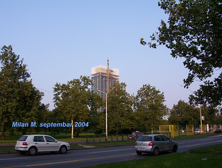 Bulvera Mihajla Pupina, Novi Beograd, septembar 2004.