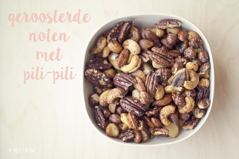 Geroosterde noten met pili-pili