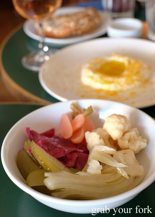 Pickles and fermented vegetables at 10 William Street, Paddington