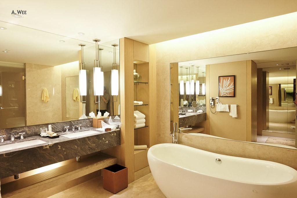 Luxurious bathroom with a tub