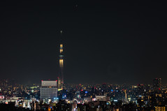 I tried to shoot the Tokyo Sky Tree from Bunkyo Civic Center