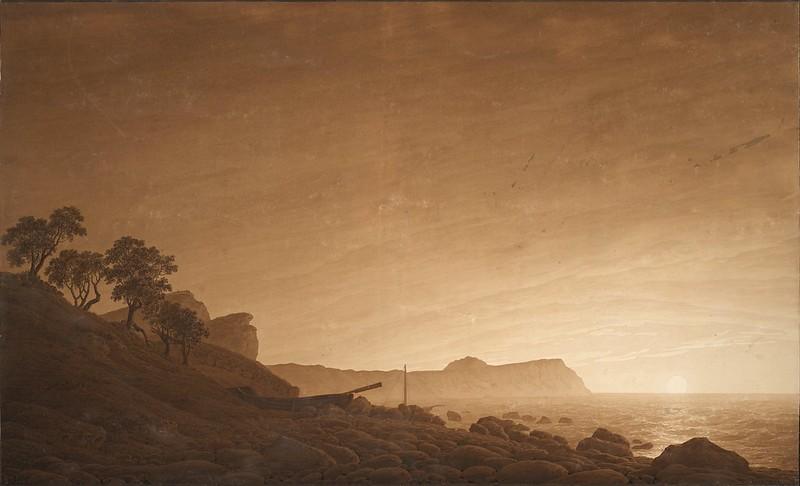 Caspar David Friedrich - View of Arkona with Rising Moon (c. 1805-1806)
