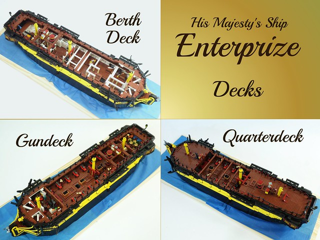 HMS Enterprize - Decks Overview