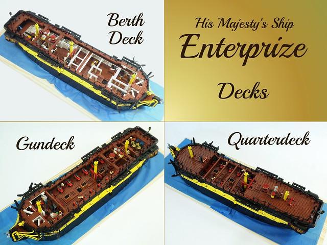 HMS Enterprize - Decks Overview