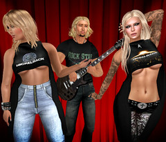 New NICKELBACK ladies tops with triple texture HUD at VYPER
