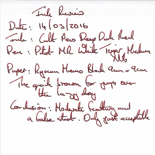 Cult Pens Deep Dark Red - Ryman Memo