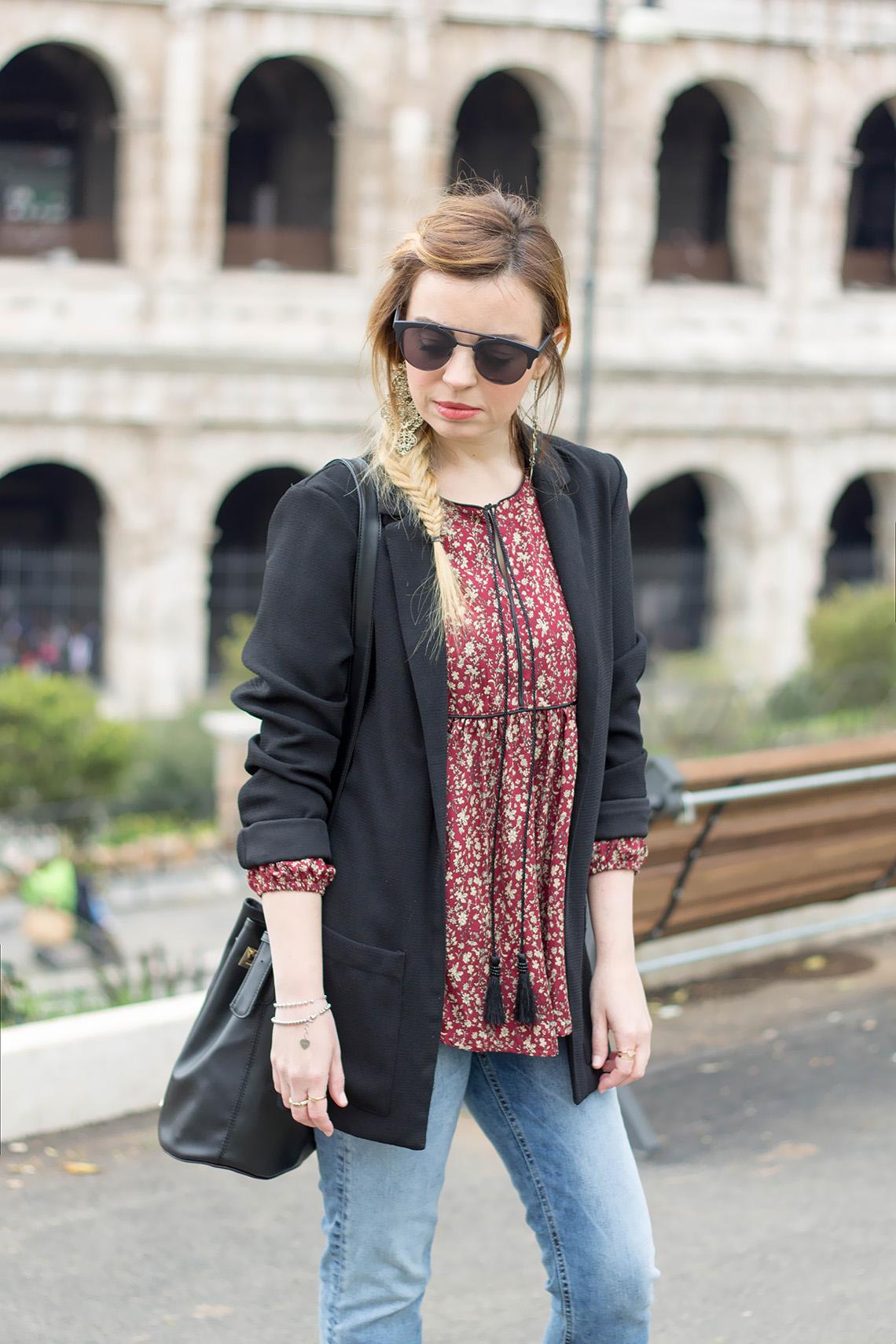 come indossare il jeans con l'orlo sfilacciato dressing&toppings