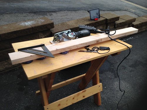 Speed square and circular saw