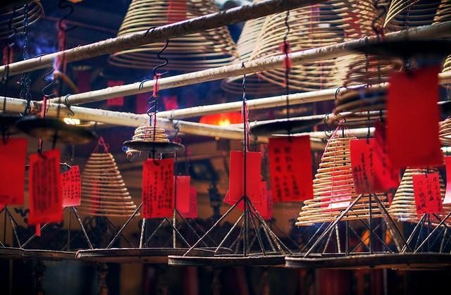 Incense coils at Man Mo Temple