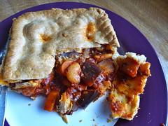 Aubergine & Parsnip Pie